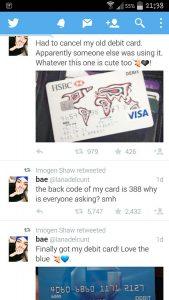 karta kredytowa na twitter