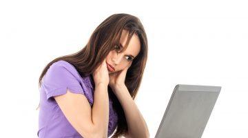 kobieta i laptop