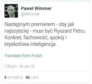 Ryszard petru premierem